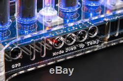 NIXIE Tubes Clocks IN-14 in Acrylic Case Option IR Remote, GPS and Temperature