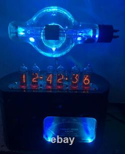 Nixie Clock IN-14 Steampunk. Military JAN-CUE-860 Tube. Target Meter, Ring Model