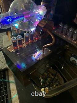 Nixie Clock IN-14 Steampunk. Military Westinghouse JAN-CWL-860 Tube. Ring Model