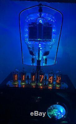 Nixie Clock IN-14 Tube. Steampunk. U. S. Navy, Western Electric 701A Radar Tube