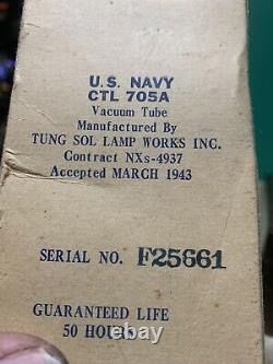 Nixie Clock IN-14 Tube. Steampunk. Vintage U. S. Navy, Tung-Sol CTL-705A H/V Tube