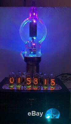 Nixie Clock IN-14 Tube. Steampunk style. Lit Eimac250-TH Tube, With Ezekiel Ring