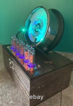 Nixie Clock IN-14 Tubes. Steampunk Copper, Brass & Glass! Vintage Frank S. Betz