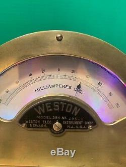 Nixie Clock IN-14 Tubes. Steampunk Copper, Brass & Glass! Weston 264 + Dekatron