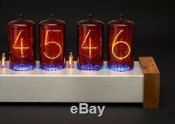 Nixie Clock Large rare 6x Z566M tubes included Vintage Steampunk Cold War