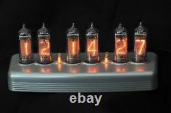 Nixie Clock in polished anodized billet aluminum enclosure IN14 tubes