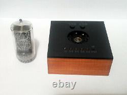 Nixie Clock with large Z566M tube & alder case & alarm & blue led IN-18 ZM1040