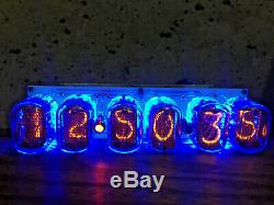Nixie Tube Assembled Big Desk Clock and Calendar Vintage IN-12 x 6 Russia