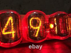 Nixie Tube Assembled Big Desk Clock and Calendar Vintage IN-12 x 6 Russian