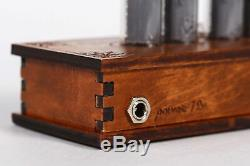 Nixie Tube Clock 4x IN-14 Nixie Clock Vintage Retro Desk Table Clock Wooden Case