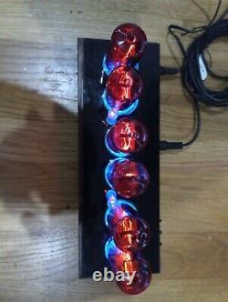 Nixie Tube Clock 6x z566m Nixie Clock wood / acryl / metal chassi