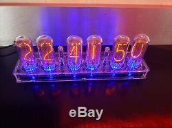 Nixie Tube Clock Assembled With IN-18 Largest Tubes Fallout Steampunk Vintage