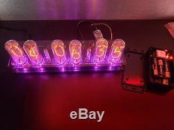Nixie Tube Clock Assembled With IN-18 Tubes Largest Fallout Steampunk Vintage