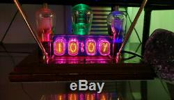 Nixie Tube Clock IN-12 Assembled With Tubes Fallout Steampunk Vintage