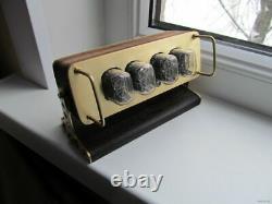 Nixie Tube Clock IN-12 Retro Vintage steampunk. Wood enclosure. Best gift