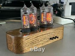 Nixie Tube Clock IN-14 Unique Vintage Clock assembled watch wooden case #20