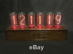 Nixie Tube Clock Pulsar IN-18 RGB 6-tubes