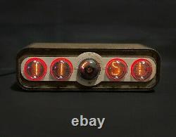 Nixie Tube Clock Pulsar IN-4 + Decatron USB GPS
