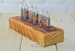 Nixie Tube Clock Russian 6 NOS IN-14 Replaceable Tubes Alarm Remote Assembled