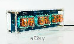 Nixie Tube Clock with 6x IN-12 unique vintage steampunk watch