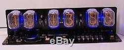 Nixie Tube clock KIT IN-12 Six Digit Tubes Date Temp. & Wooden Housing Black