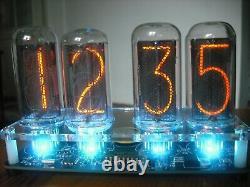 Nixie Tube clock KIT with IN-18 Tube LED RGB Backlight Black PCB