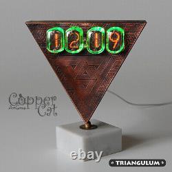 Nixie Tubes 4 IN-12 Desktop Alarm Clock Unique Steampunk artwork Single copy