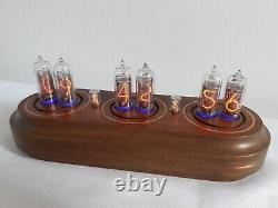 Nixie clock IN14 tubes wooden case Monjibox Star Series