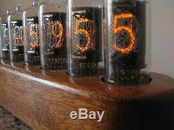 Nixie clock ZM1080 Mullard tubes wooden case Jewel Series