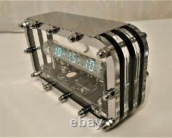 Nixie clock ice tube IV-18 VFD Adafruit unique gift for him Dad brother