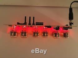 Nixie tube clock IN12 (6tube) Red a cool Christmas gift! Vacuum tube clock