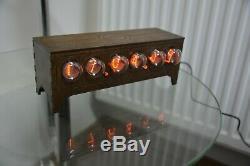 Nixie tube clock IN1 table desk retro old vintage clock for bedroom by JTNlab
