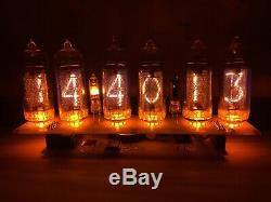 Nixie tube clock IN-14 (6 tube) Amber US power adapter included with calendar
