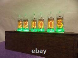 Nixie tube clock IN-14 RGB table desk retro old vintage clock for bedroom JTNlab