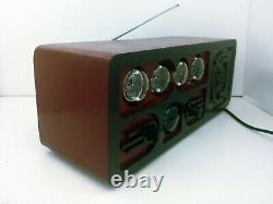 Nixie tube clock radio with dekatron, Bluetooth, AUX, FM