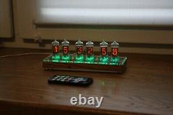 Nixie tube clock with 6pcs RFT Z570M tubes wooden clear FINE 5 NOT UPSIDE DOWN 2