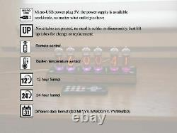Nixie tube clock with IN-14 tubes and without case Remote Temperature