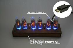 Nixie tube clock with IN-8-2 tubes (fine 5) Desk Table Remote Auto Temperature