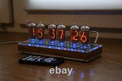 Nixie tube clock with IN-8-2 tubes (fine 5) Desk wooden Remote Auto Temperature
