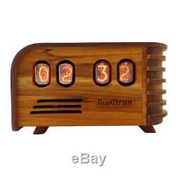 Nuvitron Vintage Nixie Tube Clock Art Deco Design with IN12 Nixie Tubes NOS