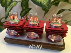 Original Monjibox Nixie Clock RED VRUUUM with IN14 tubes