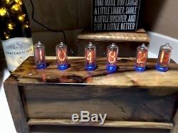 Pistachio In8 Vertical Nixie Tube Clock- made to order wifi enabled