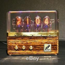 Premium Nixie Tube Clock IN-12 Retro Vintage 2. Zebrano wood