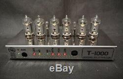 Premium Stainless Steel T-1000 Desktop Nixie tube Clock from Bad Dog Designs