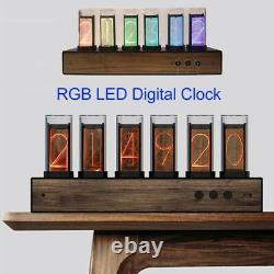 RGB Glow Tube Clock LED Digital Nixie Clock Electronic Retro Desk Clock USB 5V