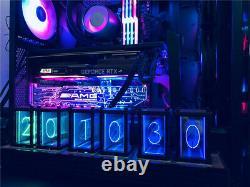 RGB Simulation Glow Tube Clock DIY Kit LED Desktop Decoration Nixie Tube Clock