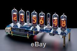 Raspberry Pi IN-14 Shield Nixie Tubes Clock (GPS, Temp sensor, Remote)