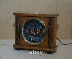 Re-Purposed Nixie Tube Digital Alarm Clock, Soviet era, true vintage enclosure