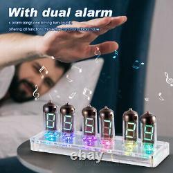 Retro Desk 6× IV-11(-11) Nixie Tube VFD Alarm Clock with Bluetooth APP Control