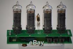 Retro Nixie Tube Clock IN-14 DIY KIT ALL PARTS PCB RED